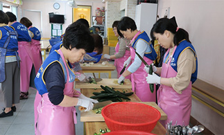 Love Kimchi Sharing volunteer activity